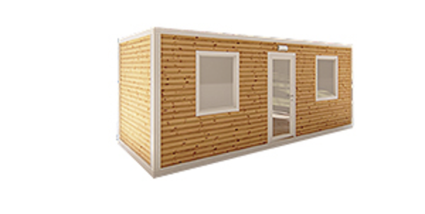 Containers met houten bekleding